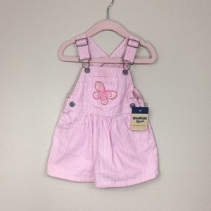 [NWT] OshKosh B'gosh Pink Railroad Overall Dress